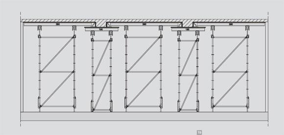 19. Схема перекриття, виготовленого за допомогою опорної конструкції MC